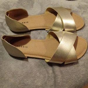 Torrid open toe sandals